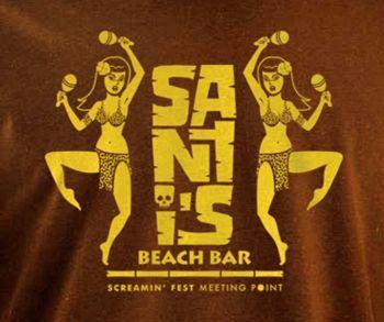 SANTI'S BEACH BAR T-SHIRT  FOR GIRLS - CH/YEL